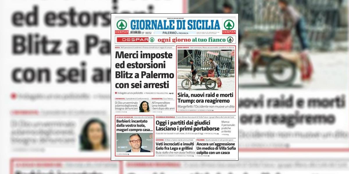 L'intervista che Patrizia Di Dio ha rilasciato al Giornale di Sicilia: UN VERMINAIO A DANNO DEGLI ONESTI, BISOGNA DENUNCIARE