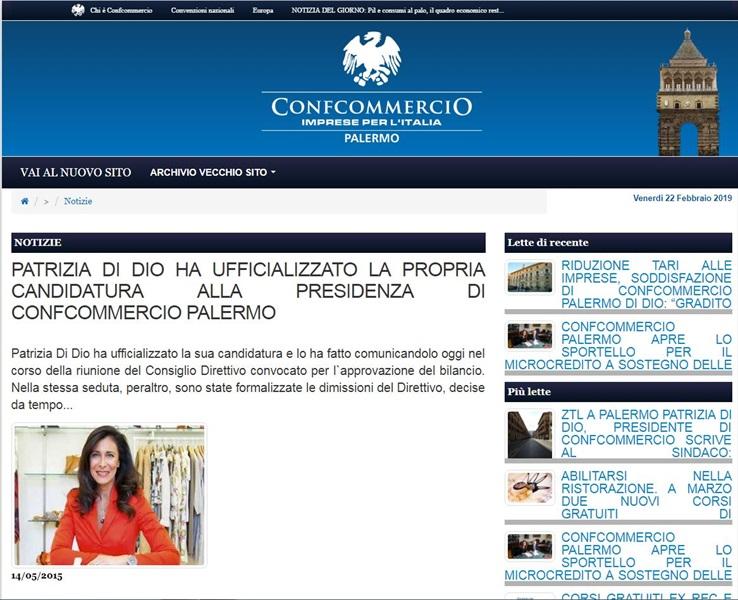 Patrizia Di Dio ha ufficializzato la propria candidatura alla presidenza di Confcommercio Palermo