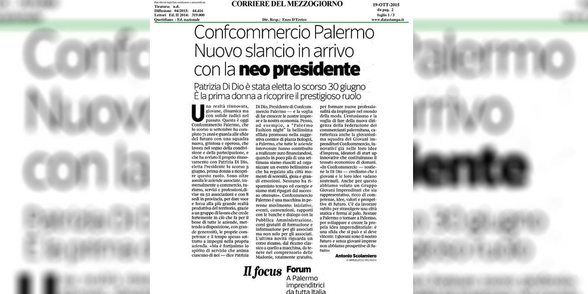 Nuovo slancio di Confcommercio Palermo con la neo presidente