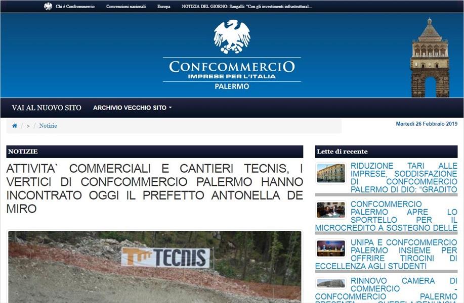 Attivita' commerciali e cantieri TECNIS, i vertici di Confcommercio Palermo hanno incontrato oggi il prefetto Antonella De Miro