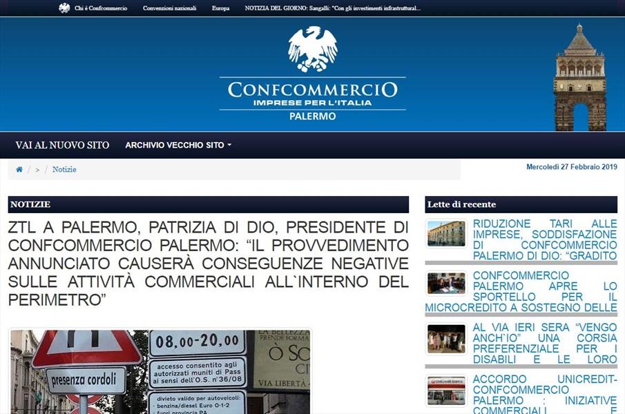 ZTL Palermo, Patrizia Di Dio, presidente Confcommercio Palermo: Il provvedimento annunciato causerà conseguenze negative sulle attività commerciali all'interno del perimetro