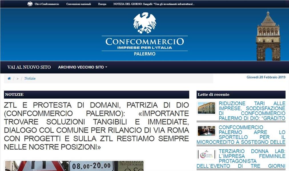 ZTL Palermo e protesta di domani, Patrizia Di Dio: importante trovare soluzioni tangibili e immediate, dialogo col comune per rilancio di via roma con progetti e sulla ZTL restiamo sempre nelle nostre posizioni