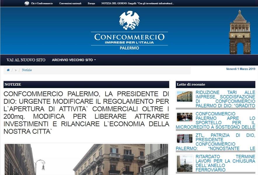 Confcommercio Palermo, la presidente Patrizia Di Dio: urgente modificare il regolamento per l`apertura di attività commerciali fino a 1.500mq. Modifica per attrarre investimenti e rilanciare l`economia della nostra città