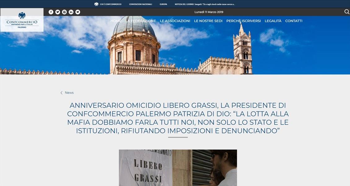 """Anniversario omicidio Libero Grassi, la presidente di Confcommercio Palermo Patrizia Di Dio: """"la lotta alla mafia dobbiamo farla tutti noi, non solo lo stato e le istituzioni, rifiutando imposizioni e denunciando"""""""