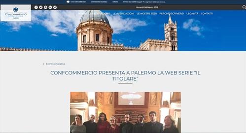 """Confcommercio presenta a Palermo la web serie """"il titolare"""""""