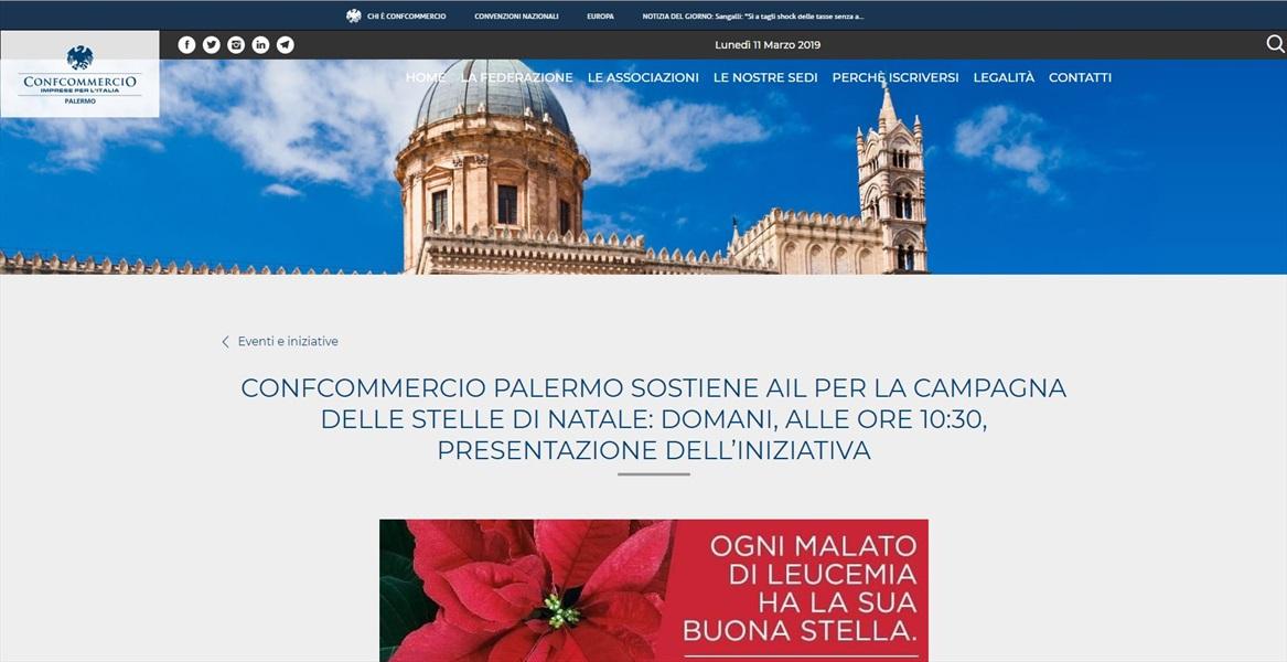 Confcommercio Palermo sostiene la per la campagna delle stelle di natale: domani, alle ore 10:30, presentazione dell'iniziativa