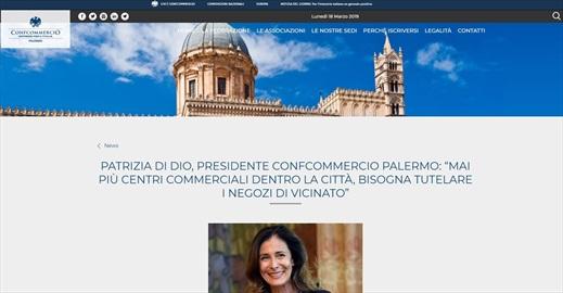 Patrizia Di Dio, presidente Confcommercio Palermo: mai più centri commerciali dentro la città, bisogna tutelare i negozi di vicinato